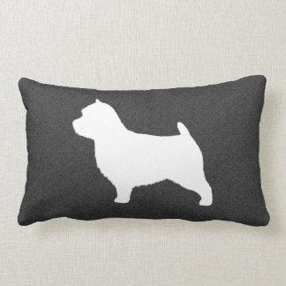 Norwich Terrier Silhouette Lumbar Cushion