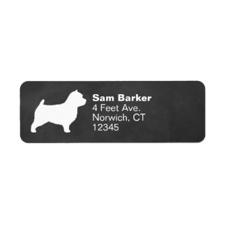 Norwich Terrier Silhouette Return Address Label