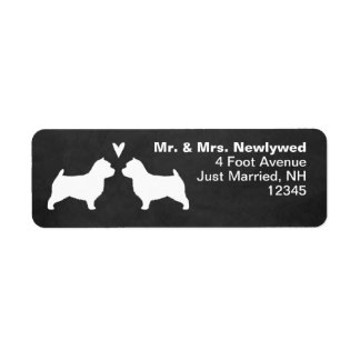 Norwich Terrier Silhouettes Love Return Address Return Address Label