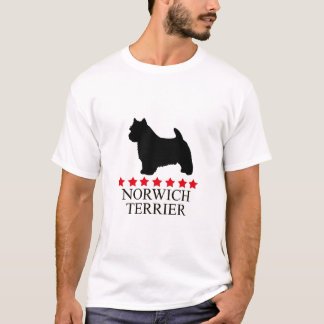 Norwich Terrier T-shirt with Red Stars