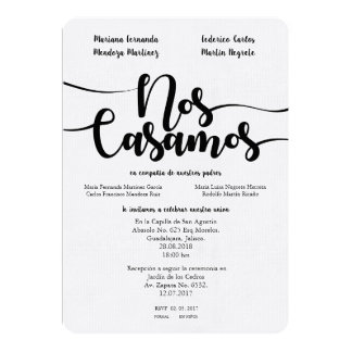 NOS CASAMOS SPANISH WEDDIN INVITATION