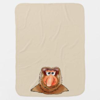 nose litte monkey baby blanket