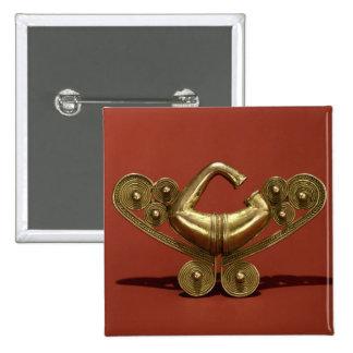 Nose Ornament, Tairona Culture 15 Cm Square Badge