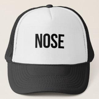 nose trucker hat