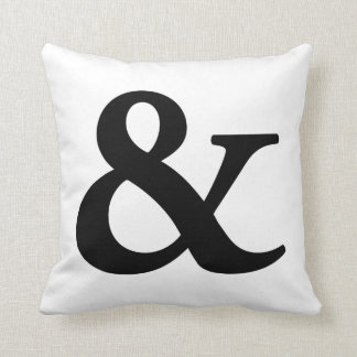 Nosetouch Press Ampersand Pillow, White Cushion