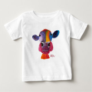 Nosey Cow 'LouLou' by Shirley MacArthur Baby T-Shirt