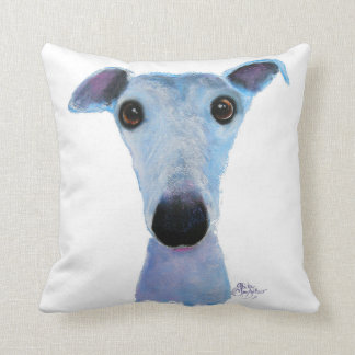 Nosey Dog ' Bluebell ' Soft Throw Pillow Cushion