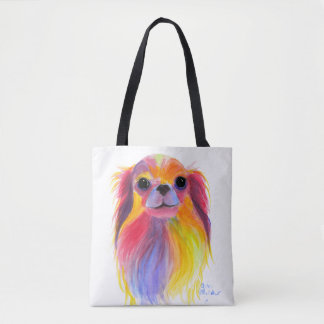 Nosey Dog Chihuahua ' TiLLY ToTS ' by Shirley Mac Tote Bag