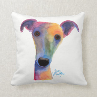 Nosey Dog ' Pansy ' Soft Throw Pillow Cushion