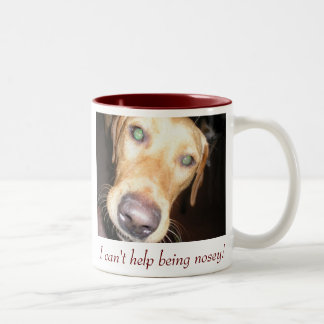 Nosey Two-Tone Coffee Mug