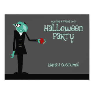 "Nosferatu Invites You Halloween Party Invitation 4.25"" X 5.5"" Invitation Card"