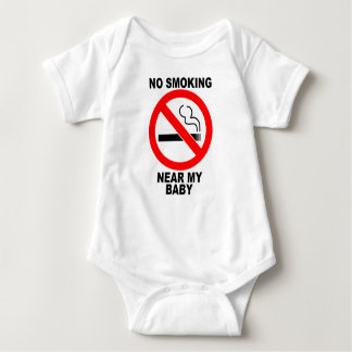 NoSmoking Near My Baby Body Suit Baby Bodysuit