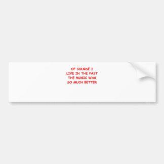 nostagia bumper sticker