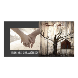 nostalgia barnwood western country thank you picture card