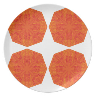 Nostalgia handdrawn Mandala Orient pink Plate