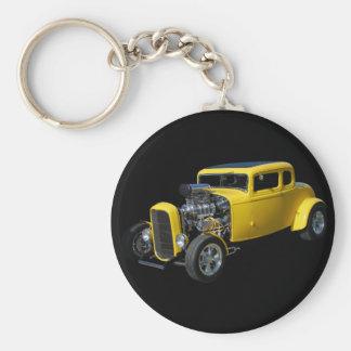 Nostalgia Rod Basic Round Button Key Ring