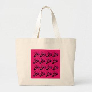 Nostalgia Wine pink black Large Tote Bag