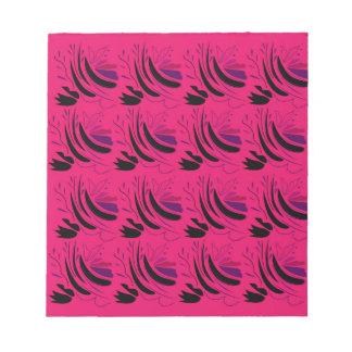 Nostalgia Wine pink black Notepad
