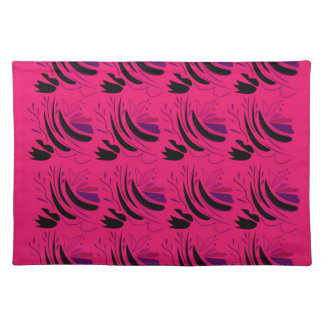 Nostalgia Wine pink black Placemat