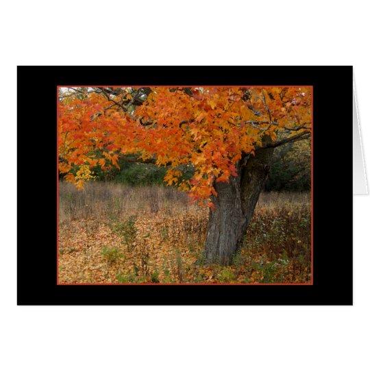 Nostalgic Amber Autumn Card