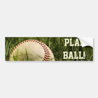 Nostalgic Baseballs Car Bumper Sticker