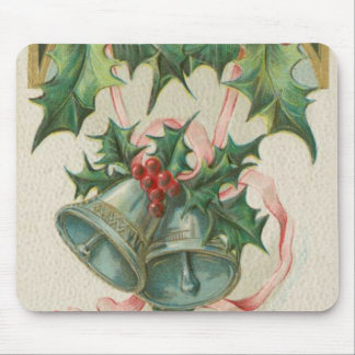 Nostalgic Christmas Bells and Holly Mouse Pads