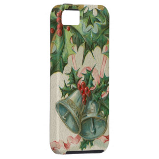 Nostalgic Christmas Bells and Holly Tough iPhone 5 Case