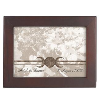 Nostalgic Dogwood Triple Moon Handfasting Cord Box Memory Boxes