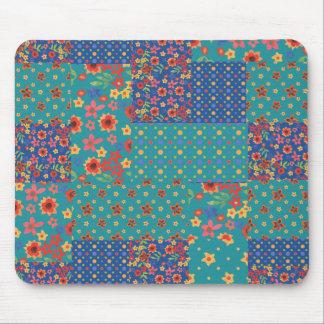 Nostalgic Faux Patchwork Patterns Mousepad