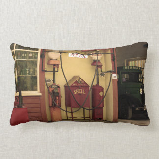 Nostalgic Gas Station Lumbar Cushion