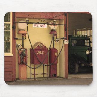 Nostalgic Gas Station Mouse Pad