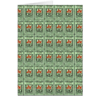 Nostalgic Green Stamps Greeting Card