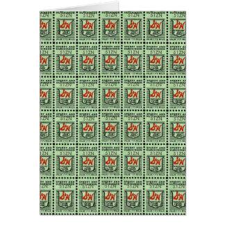 Nostalgic Green Stamps Greeting Card