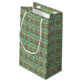 Nostalgic Green Stamps Small Gift Bag