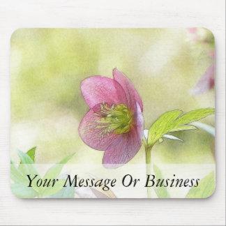 Nostalgic Hellebore Flower Art Mouse Pad