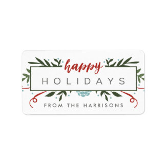 Nostalgic Holiday Personalized Gift Tags Address Label