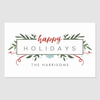 Nostalgic Holiday Personalized Stickers