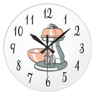 Nostalgic Kitchen Mixer Large Clock