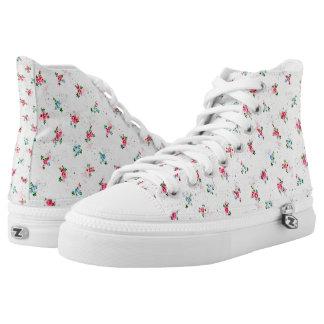 Nostalgic Mini Roses - High Top Shoes Printed Shoes