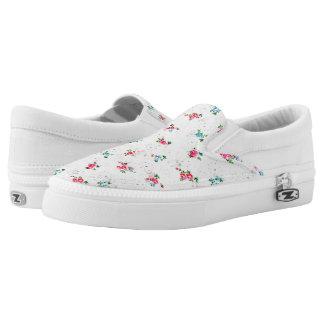 Nostalgic Mini Roses -  Slip Ons Printed Shoes