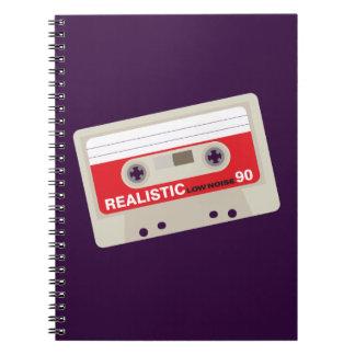 Nostalgic music lover bold cassette graphic notebooks
