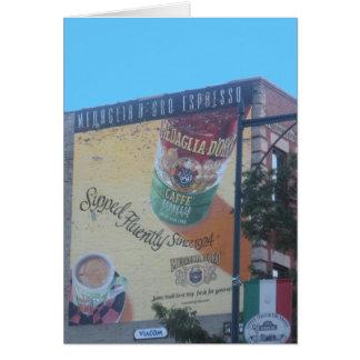 """Nostalgic Neighborhood Scene in """"Little Italy"""" Card"""