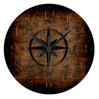 Nostalgic Old Compass Rose Wall Clocks