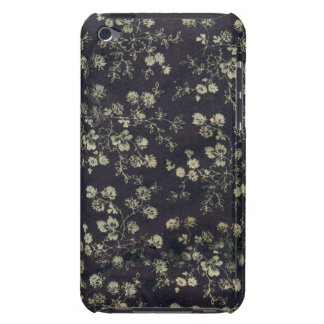 Nostalgic Pearlsilver Black Floral Pattern Barely There iPod Covers