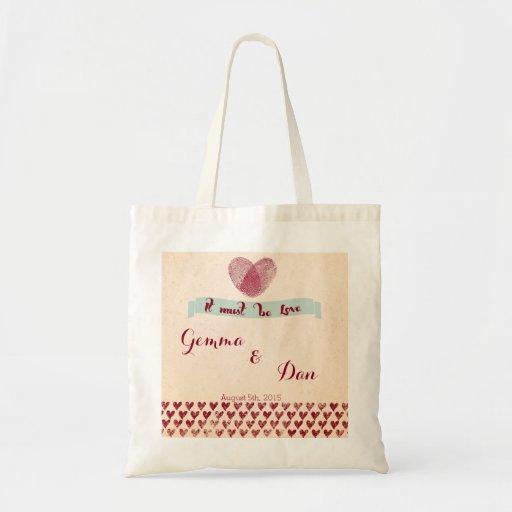 Nostalgic Romance Custom Love Tote Bag