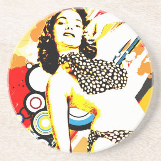 Nostalgic Seduction - Polka Dottie Coaster