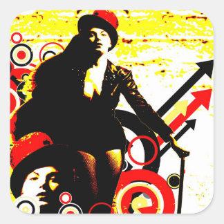 Nostalgic Seduction - Prurient Performer Square Sticker