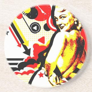 Nostalgic Seduction - Striptease Coaster