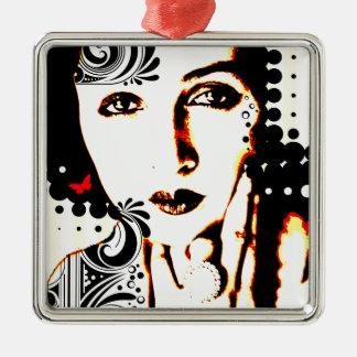 Nostalgic Seduction - Subjected to Ink Metal Ornament
