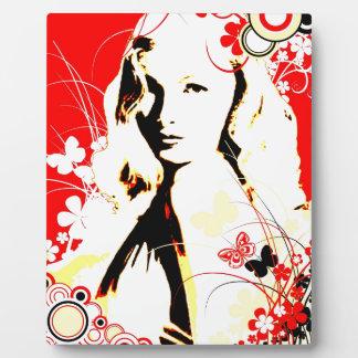 Nostalgic Seduction - Wistful Flutter Plaque